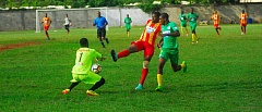 Cornwall College vs Green Pond High first round action