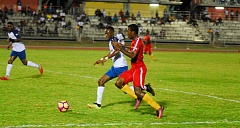 Champion Cup action between Cornwall College and Camperdown